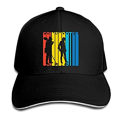 1970's Style Retro Coinshooter Metal Detector Adjustable Baseball Sandwich Hat Cap for Unisex