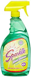 A J Funk & Co 30345 Sparkle Glass Cleaner, Green Formula, 33.8-Ounce Trigger Bottle (Case of 12)