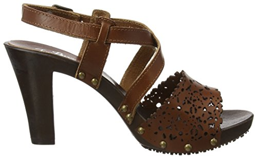 Bargello Con Marrone Sandals Caviglia Joe A Alla Sandali tan Browns Leather Donna Cinturino xqOwgU15