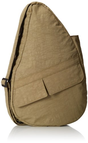 AmeriBag Small Distressed Nylon Healthy Back Bag,Taupe,one (Healthy Back Bag)