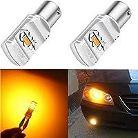 Alla Lighting 3800lm BA15S 1156 Amber Yellow LED Bulbs...