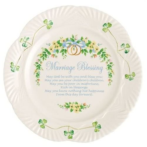Belleek 9-Inch Marriage Blessing Plate (Marriage Blessing Plate)