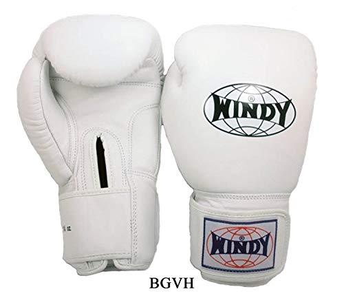 WINDY Boxing Gloves BGVH Pink Navy Blue Green Black Red White Sparring Training Gloves Muay Thai Kickboxing MMA K1 (White, 16 oz)]()
