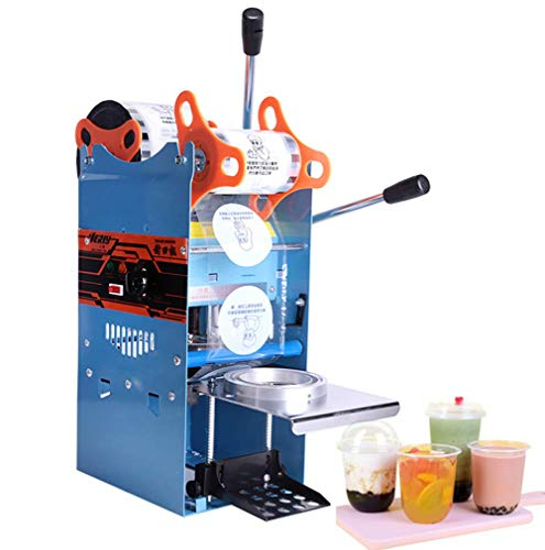 TOPCHANCES 270W Electric Plastic Cups Sealing Machine Boba Bubble Tea uice Drink Sealer Pressure Lid Sealing Maker Bubble Milk Tea Shop Closure Cup Sealing Machine 300-500 Cups/Hr