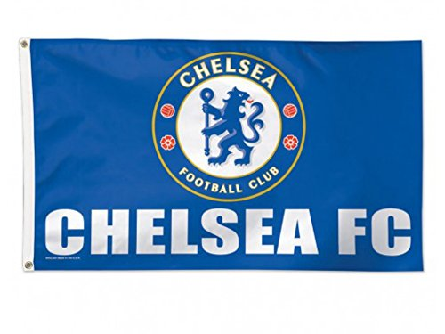 Chelsea Fc Flag (Chelsea FC WinCraft Sports Blue White Deluxe Indoor Outdoor Flag (3' x 5'))