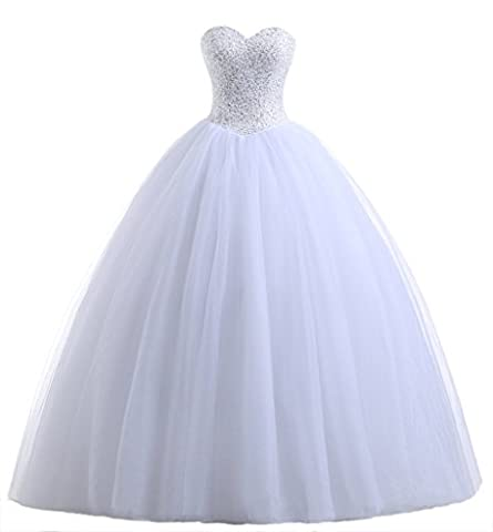 Beautyprom Women's Ball Gown Bridal Wedding Dresses Ivory US12