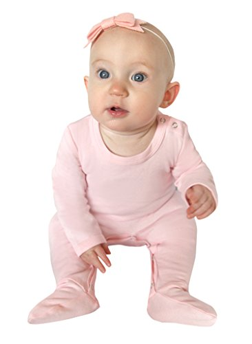 Price comparison product image Owlivia Baby Organic Cotton Snap-Up Sleep N Play Footed Overall (3-6 Months,  Pink)