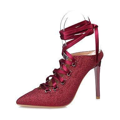 Pelle YCMDM Donne Sandali Primavera Estate Comfort Vestito tacco a spillo , red , us5 / eu35 / uk3 / cn34