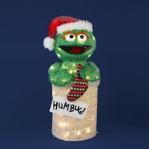 Oscar the Grouch Sesame Street Christmas Ornament