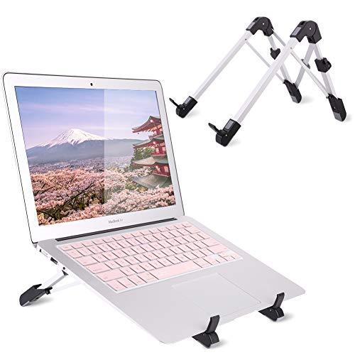 Lucos Laptop Stand Adjustable, Foldable Laptop Holder Stand Portable Desk Height Adjustable Design Lightweight Laptop Holder for MacBook,Dell, Notebook,Kindle,iPad