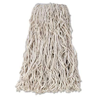 RCPV118 Economy Cotton Mop Heads, Cut-End, Cotton, White, 24 oz, 1-in. White Headband