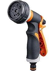 DXIA Spuitpistool, Sproeikop, Broespistool, Spuitpistool voor Tuinslang, Multifunctionele Douche met 8 Instelmogelijkheden, Handsproeier voor Auto Wassen, Besproeien Gazon en Tuin