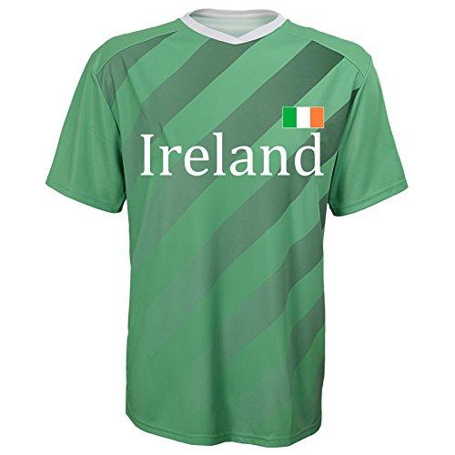 World Cup Soccer Ireland Federation Jersey Short Sleeve Tee, X-Large (18), (Ireland Football)