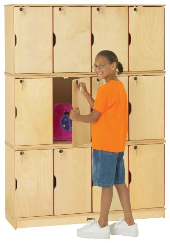Jonti-Craft 4697JC Stacking Lockable Lockers, Triple Stack