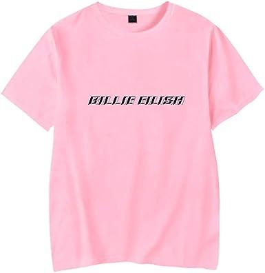 Image of Mooz-seven Camiseta Billie Eilish Unisex,3D Impresión Mujer Hombre T-Shirt y Tops