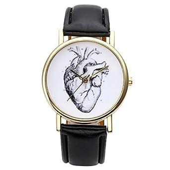 Armbanduhr skizze  JSDDE Uhren,Vintage Damen Armbanduhr Skizze Organ Herz Zifferblatt ...