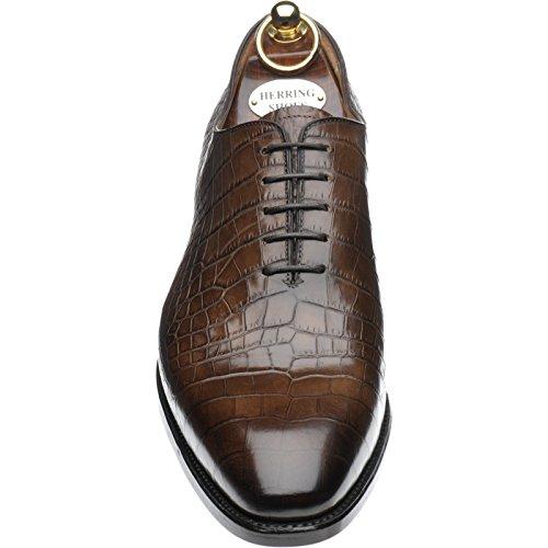Herring Herring Chaucer - Zapatos de cordones para hombre marrón marrón oscuro (cocodrilo)