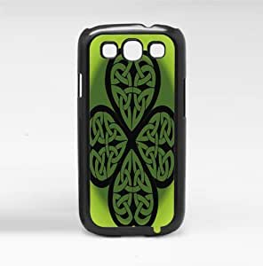 Tribal Black and Green Four Leaf Clover St. Patty's Day Hard Snap on Phone Case (Galaxy s3 III)
