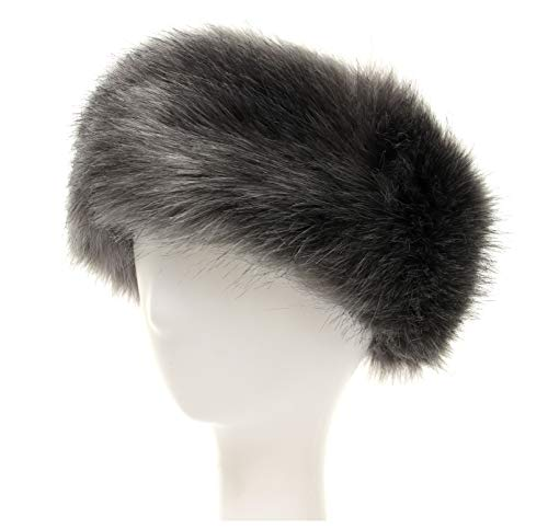 La Carrie Faux Fur Headband with Stretch Women