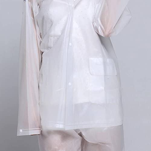 Yuzhonghua Eva Traslucido Opaco Sentirsi Esterna Raincoat Uomini e Donne Coppia Lungo Paragrafo Poncho Suit Inodore Ambientale, Impermeabile Ladies' (Size : L)