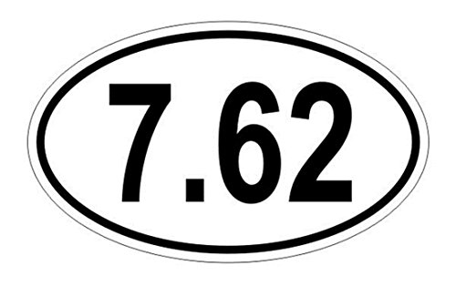 "Price comparison product image 1 PCs Unblemished Popular 7.62 Oval 2nd Amendment Car Stickers Sign Easy to Install Window Decals Weatherproof Size 3"" x 5"" Color White and Black"