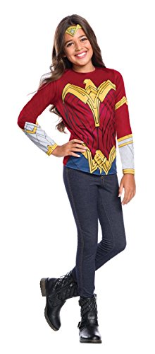 Justice League Child's Wonder Woman Costume Top, Large