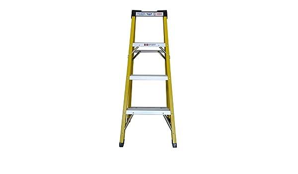 Fibra de vidrio paso escalera 330 Lbs pesado deber calificación FRP aislamiento escalera: Amazon.es: Bricolaje y herramientas