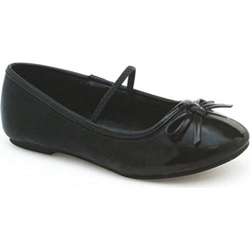 Pantofola Con Tallone Piatto Balletto Nero Bambini - Media