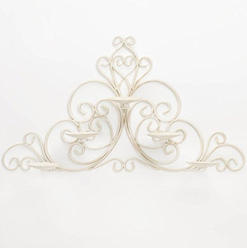 Zingz and Thingz Vintage Scrollwork Wall Sconce - Ivory Contemporary Sconce