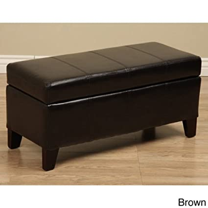 Magnificent Warehouse Tiffany Ariel Faux Leather Storage Bench Coffee Table Machost Co Dining Chair Design Ideas Machostcouk