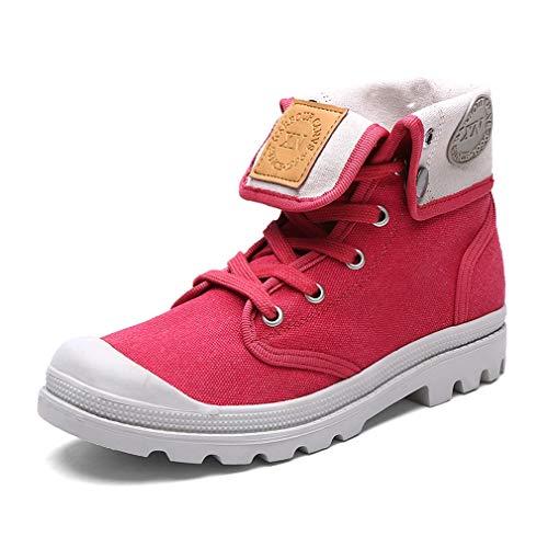 Exing Womens Schuhe High-Top-Sneaker/Liebhaber Leinwand Schuhe/Anti-Rutsch Vintage Martin Stiefel/Casual Tooling Schuhe (Farbe : D, Größe : 43) B