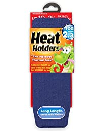 Heat Holders Thermal Socks Childrens Younger Dark Blue 9-2 US
