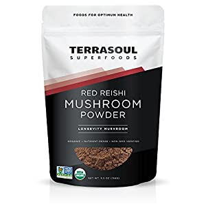Terrasoul Superfoods Red Reishi Mushroom Powder 4:1 Extract (Organic)