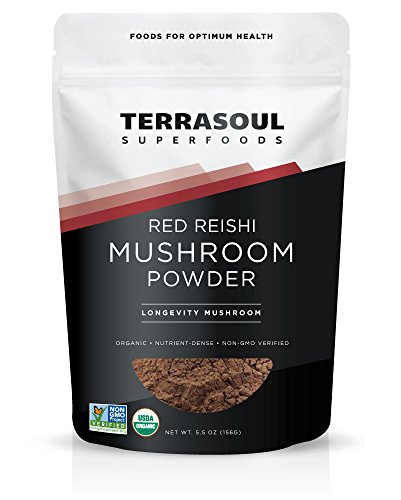 Terrasoul Superfoods Organic Reishi Mushroom Powder (4:1 Extract), 5.5 Ounces