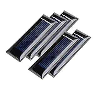 sourcingmap® 5Pcs 0.5V 100mA Poly Mini Solar Cell Panel Module DIY for Phone Light Toys Charger 53mm x 18mm
