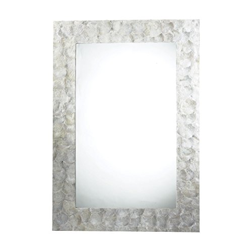 Sterling Silver Rectangular Mirror (Sterling Tolka Quay Mirror, Mother of Pearl)