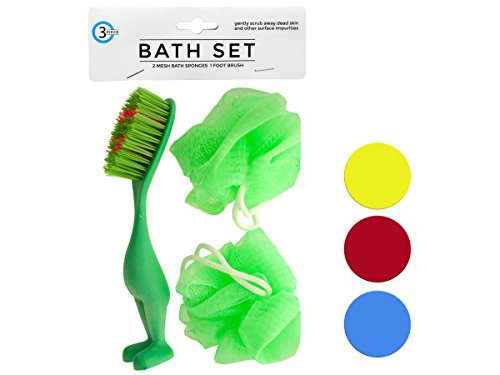Bath Sponges & Foot Brush Set - 144 Pack by bulk buys