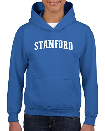 Stamford CT Connecticut Map Flag Bridgeport Home Of State University Yale Youth Hoodies - Shopping Stamford Connecticut