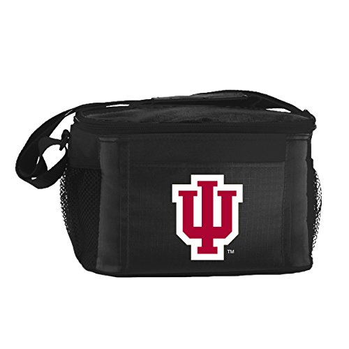 Hoosiers Indiana Lunch Box - NCAA Indiana Hoosiers Insulated Lunch Cooler Bag with Zipper Closure, Black
