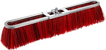 "Magnolia Brush 7018 LH Strip Brush, Medium Stiffness Synthetic Fiber Bristles, 3"" Trim, 18"" Length, Red/Black (Case of 12)"