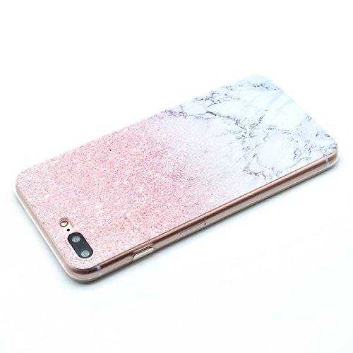 iPhone 8 Plus Coque , Leiai Mode Marbre Ultra-mince Silicone Doux TPU Housse Gel Etui Case Cover pour Apple iPhone 8 Plus