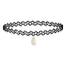 Black Velvet Choker Necklaces for Women Zinc Alloy Pendant Necklace 30 Different Style for Choice
