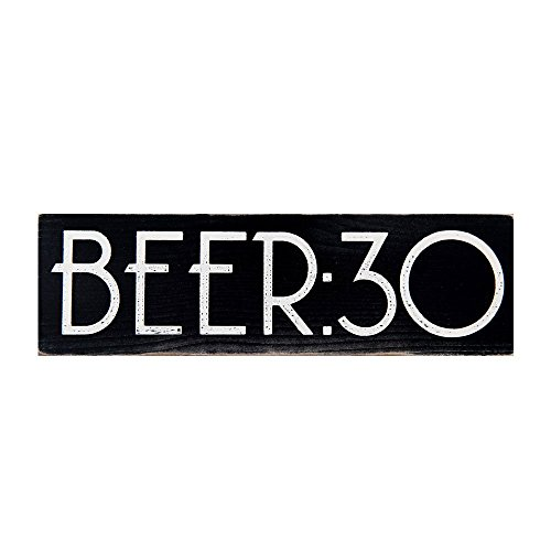 BEER:30 Vintage Wood Sign for Wall Decor, Man Cave, Wet Bar Accessories -- PERFECT GIFT FOR HIM! (Beer Sign Wood)