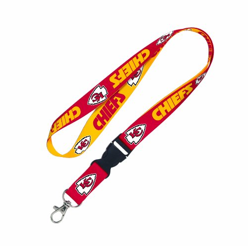 (NFL Kansas City Chiefs Lanyard with Detachable Buckle)