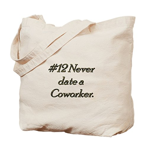 12 Bolsa Co Never Date De Cafepress A Medium Lona Trabajo Rule Caqui 16xq5xBR
