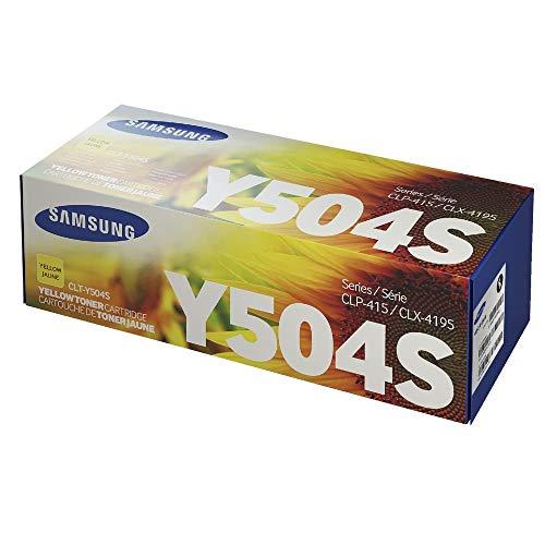 Samsung Electronics SU502A CLT-Y504S Toner for CLP-415NW, CLX-4195FW, SL-C1810W, SL-C1860FW, Yellow