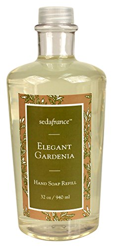 Seda France Classic Toile Liquid Hand Soap Refill, Elegant Gardenia, 32 Ounce (Pack of 4)