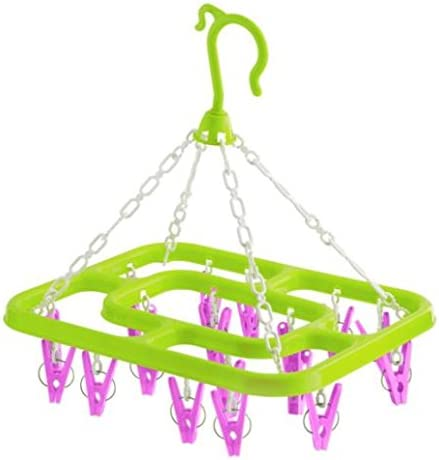Pack of 2 Indoor Outdoor Hanging Clothes 18 Peg Line Dryer Airer