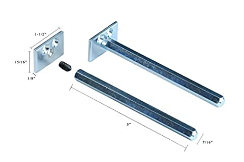 Floating Shelf Brackets - Completely Concealable Hardware Kit for Wood Shelves - Easily Mount Shelves Flush to Wall - Perfect for DIY or Custom Shelving - Blind Supports - Steel - - Hardware Bracket