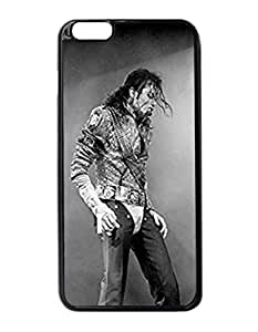 "Michael Jackson - Custom Image Case iphone 6 -5.5 inches case , Diy Durable Hard Case Cover for iPhone 6 Plus (5.5"") , High Quality Plastic Case By Argelis-Sky, Black Case New"